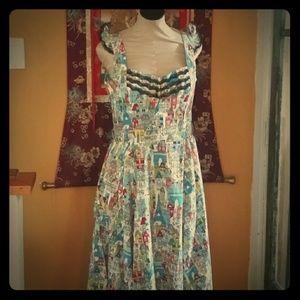 Bernie Dexter Paris Print Swing Dress XL
